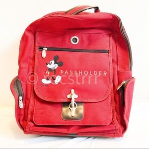 Disney Passholder Backpack Mickey Mouse Embroidery